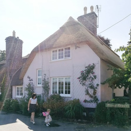 dunster pink cottage